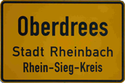 ortsschild oberdrees